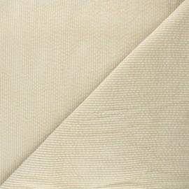 Washed ribbed velvet fabric - sand Cardiff x 10cm
