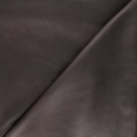 Suede elastane fabric - dark brown Hazel x 10cm