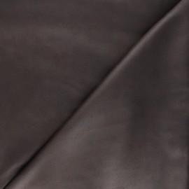 Tissu suédine élasthanne Hazel - marron foncé x 10cm