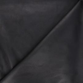 Suede elastane fabric - black Hazel x 10cm