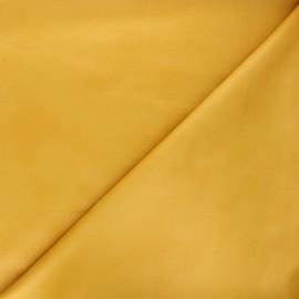 Tissu suédine élasthanne Hazel - jaune moutarde x 10cm