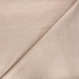 Suede elastane fabric - sand Python x 10cm
