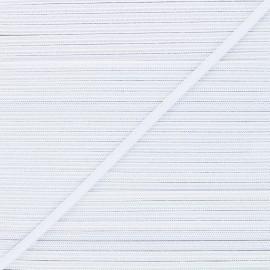 Flat elastic - white Classic x 1m