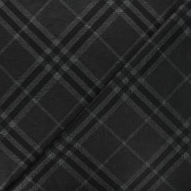 Tissu jersey milano à carreaux Bailee - gris foncé x 10cm