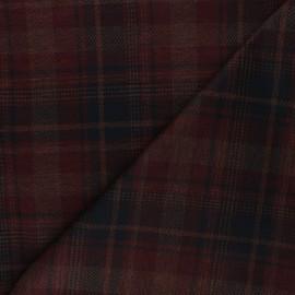 Tissu jersey milano à carreaux Ashton - brique x 10cm