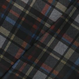Checked milano jersey fabric - black Elwood x 10cm