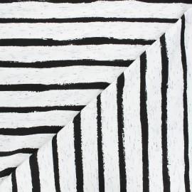 Tissu jersey Poppy Stripe - blanc x 10cm