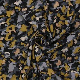 Radiance by Penelope® viscose fabric - black Camo x 10cm