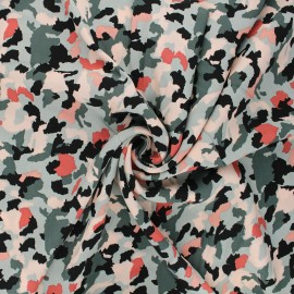Tissu viscose Radiance Camo by Penelope® - vert sauge x 10cm