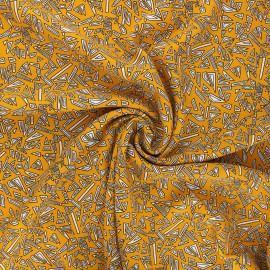 Viscose fabric - mustard yellow Graphika x 10cm