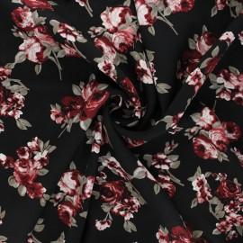 Viscose fabric - black Rosita x 10cm