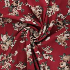 Viscose fabric - burgundy Rosita x 10cm