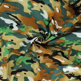 Tissu popeline de coton Daget - vert x 10cm