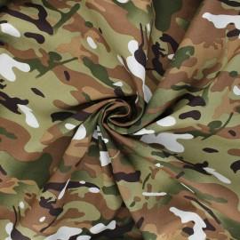 Poplin cotton fabric - khaki Daget x 10cm
