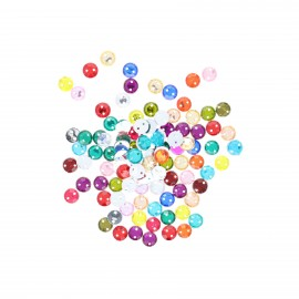 Sew-on cone India rhinestones (100 pcs) - multi