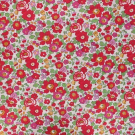 Tissu Liberty Betsy S rouge x 10cm