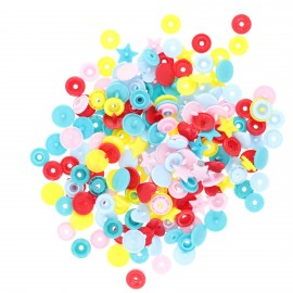 Mix of 50 snap-buttons - multicolor