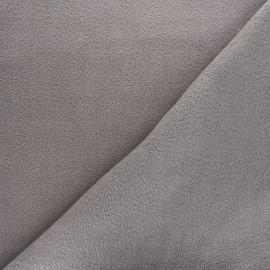 Tissu Polaire gris souris