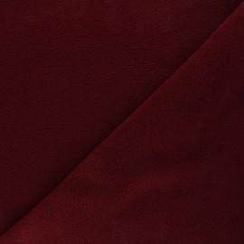 Tissu Polaire rouge grenat x10cm
