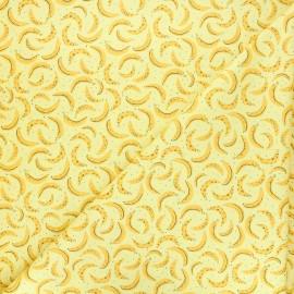 Tissu coton Feelin' fruity bananas - jaune x 10 cm