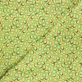 Tissu coton Feelin' fruity kiwis - jaune x 10 cm