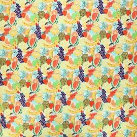 Tissu coton Feelin' fruity fruit salad - blanc x 10 cm