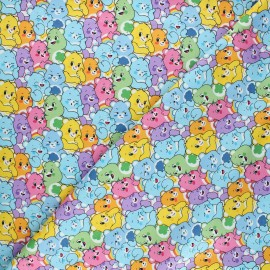 Cotton fabric - white Bisounours believers x 10cm