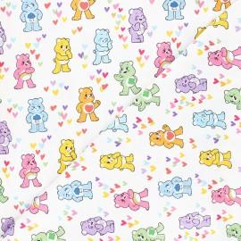 Tissu coton Bisounours friends - blanc x 10 cm