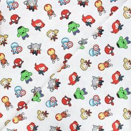 Tissu coton Marvel Comics action heroes - blanc x 10 cm