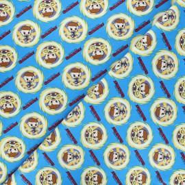 Tissu coton Marvel Comics action Doctor Strange - bleu x 10 cm