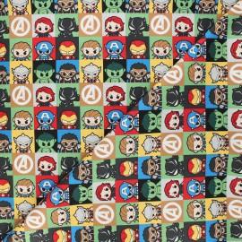 Tissu coton Marvel Comics block - vert x 10 cm