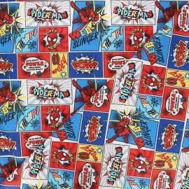 Tissu coton Marvel Comics web-slinger - blanc x 10 cm