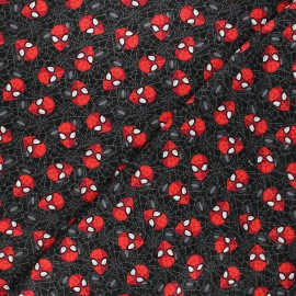 Tissu coton Marvel Comics Spidey - noir x 10 cm