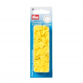 30 pressions Color Snaps rondes jaune clair