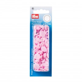 30 snap-buttons Color Snaps - pale pink
