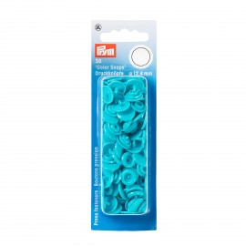 30 snap-buttons Color Snaps - turquoise