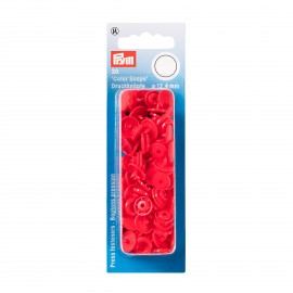 30 snap-buttons Color Snaps - light red