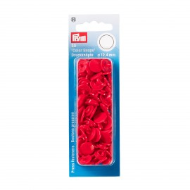30 snap-buttons Color Snaps - red