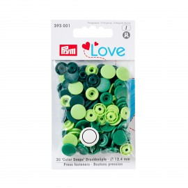 30 round snap-buttons Color Snaps - green mix
