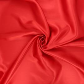 Tissu doublure rouge coquelicot x 10cm