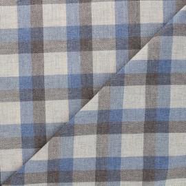 Tissu tartan Viyelli - bleu x 10cm