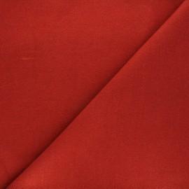 Coat wool fabric - terracotta x 10cm