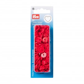 30 heart snap-buttons Color Snaps - red