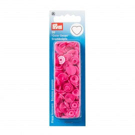 30 heart snap-buttons Color Snaps - fuchsia