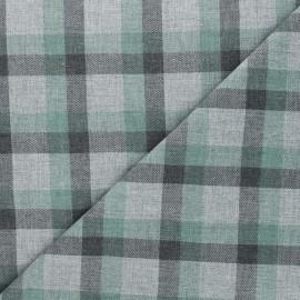 Tissu tartan Viyelli - vert x 10cm