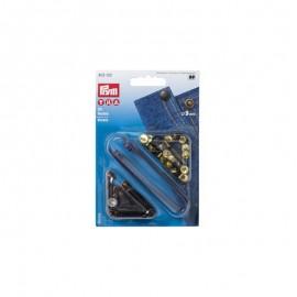 "24 Rivets ""Universal"" Jean 9mm + tool - antique copper/black"