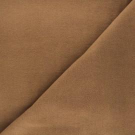 Tissu drap manteau - marron clair x 10cm