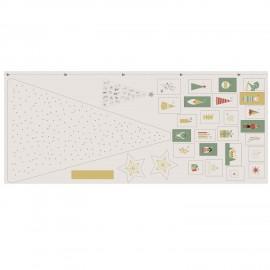 Tissu panneau toile - Xmas Advent Calendar x 64 cm