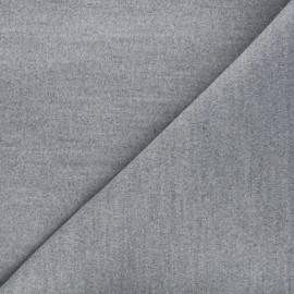 Tissu drap manteau gris clair x 10cm