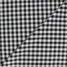 Tissu Vichy grands carreaux noir x 10cm